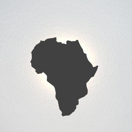 Geografischer Umriss von Afrika.