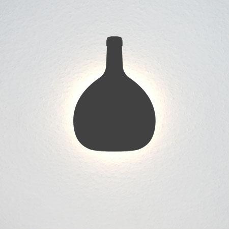 Frankenwein-Flasche (Bocksbeutel).