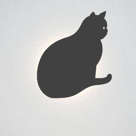 Runde Katze sitzt - vielleicht am Fenster?