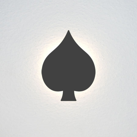 Pik-Symbol aus einem Kartenspiel