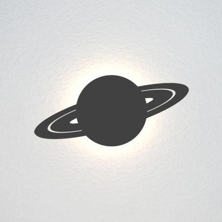 Der Planet Saturn mit seinen Ringen.