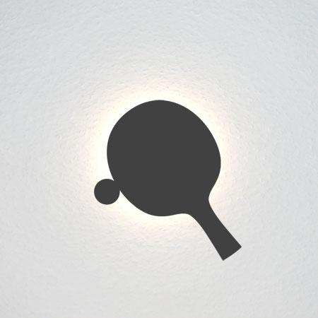 Tischtennis-Schläger - ohne Hand, aber mit Ball (?)